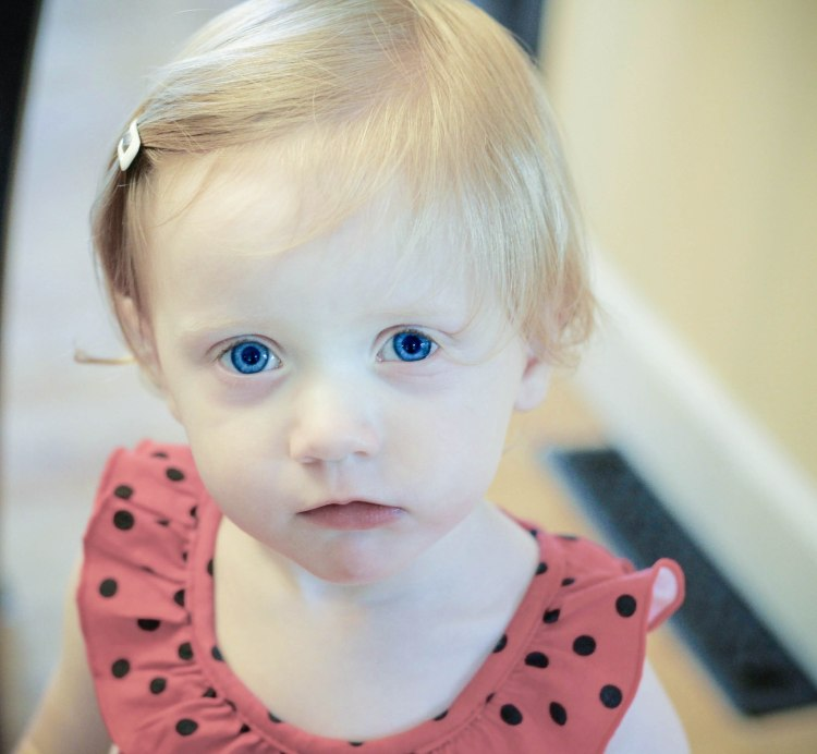 Hannah big blue eyes